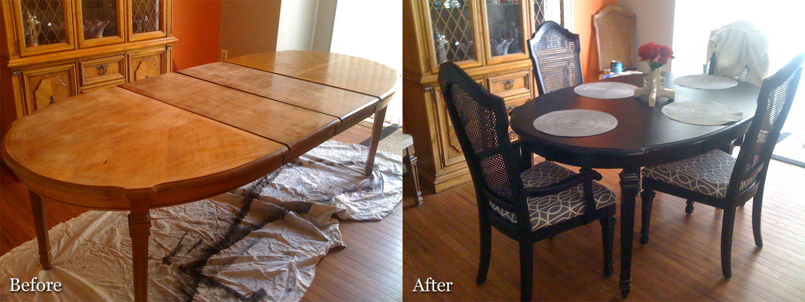 Diy refinishing a dining room table - Refinishing a kitchen table ...